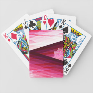 Serene Contemporary Flower Design Bicycle Playing Cards
