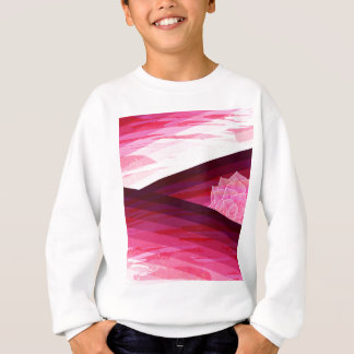 Serene Contemporary Flower Design Sweatshirt