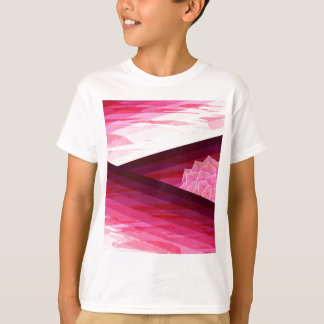 Serene Contemporary Flower Design T-Shirt