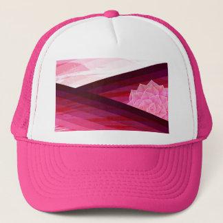 Serene Contemporary Flower Design Trucker Hat