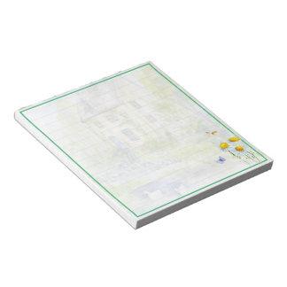 Serene cottage notepad
