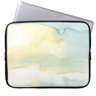 Serene Green Watercolour Painting Laptop Sleeve