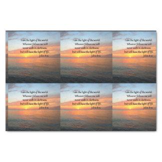 SERENE JOHN 8:12 SUNRISE OVER THE OCEAN TISSUE PAPER