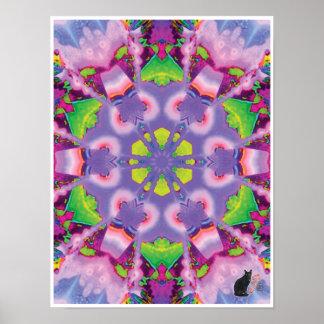 Serene Kinetic Collage Kaleidoscope Poster