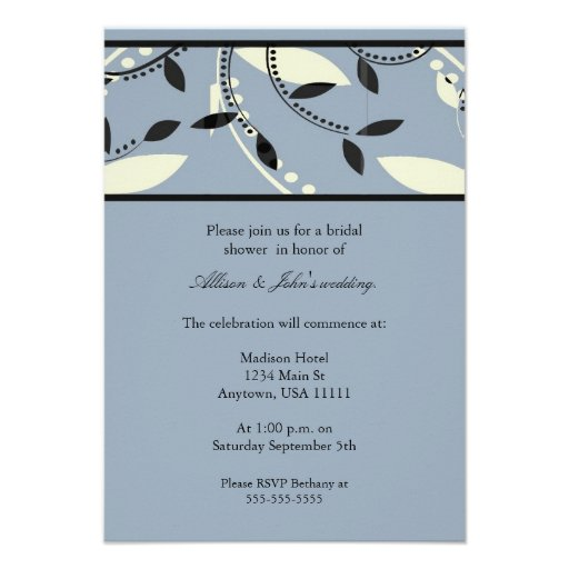 Serene Leaf Bridal Shower Invitation
