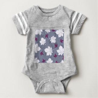Serene Leaves Pattern Baby Bodysuit