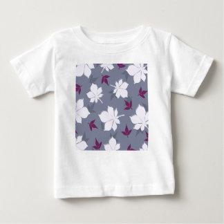 Serene Leaves Pattern Baby T-Shirt