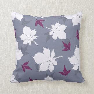 Serene Leaves Pattern Cushion