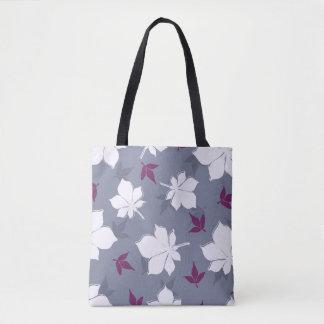 Serene Leaves Pattern Tote Bag