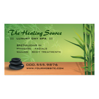 Serene Massage and Spa Appointment Pack Of Standard Business Cards