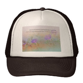 Serene Morning Glories Serenity Prayer Hat