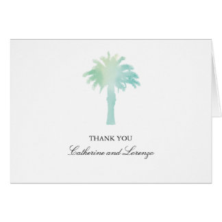 Serene Palm Tree Watercolor | Thank You Note Card