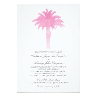 Serene Palm Tree Watercolor    Wedding 13 Cm X 18 Cm Invitation Card