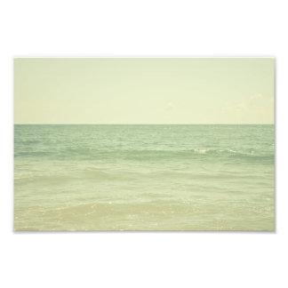 Serene Pastel Photograph Mint Green Ocean
