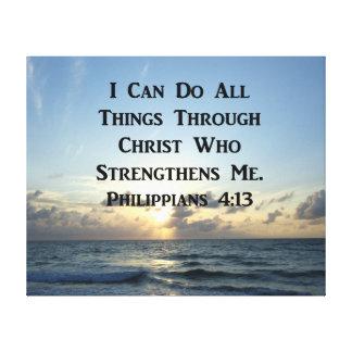 SERENE PHILIPPIANS 4:13 PHOTO DESIGN CANVAS PRINT