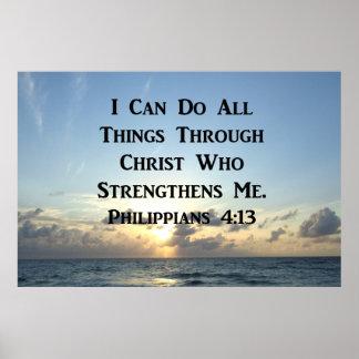 SERENE PHILIPPIANS 4:13 PHOTO DESIGN POSTER