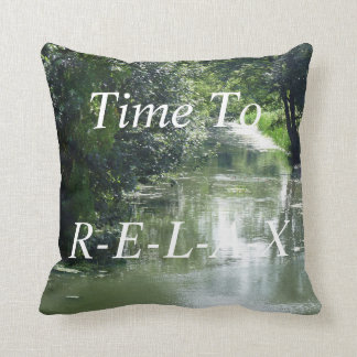Serene River Flowing Cushion