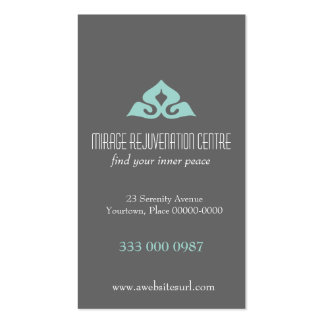 Serene Salon Aqua Appointment Pack Of Standard Business Cards