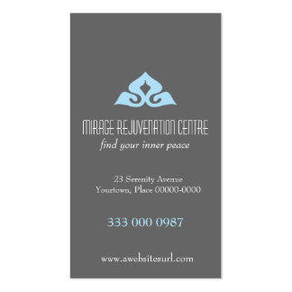 Serene Salon Blue Appointment Business Cards