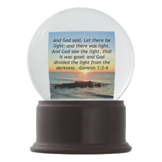 Serene Sunrise Genesis 1:3 Bible Design Snow Globe