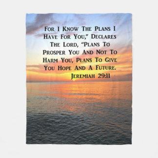 SERENE SUNRISE JEREMIAH 29:11 BIBLE VERSE FLEECE BLANKET