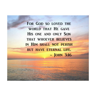 SERENE SUNRISE JOHN 3:16 PHOTO DESIGN CANVAS PRINT