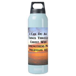 SERENE SUNRISE PHILIPPIANS 4:13 PHOTO SCRIPTURE INSULATED WATER BOTTLE