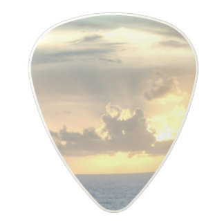 Serene Sunrise Polycarbonate Guitar Pick