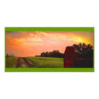 Serene Sunset in Georgia (# 2 in Series) Customised Photo Card