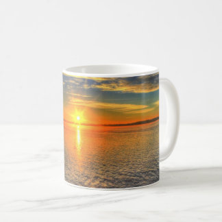Serene Sunset over the Sea Coffee Mug