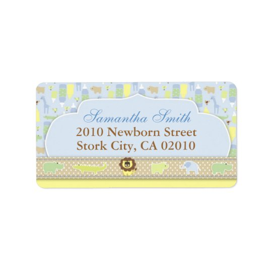 Serengeti Baby Address Label