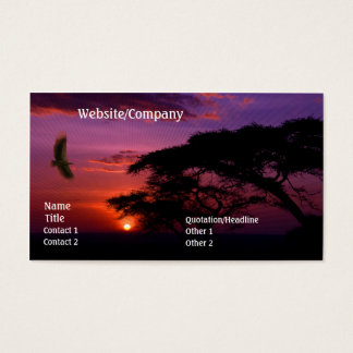 Serengeti Sunset Business Card