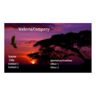 Serengeti Sunset Pack Of Standard Business Cards