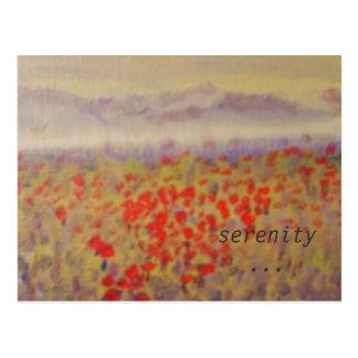 """serenity"" - an art print postcard. postcard"