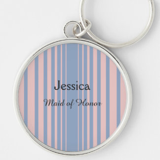 Serenity and Rose Quartz 2016 Colors Of The Year Silver-Colored Round Key Ring