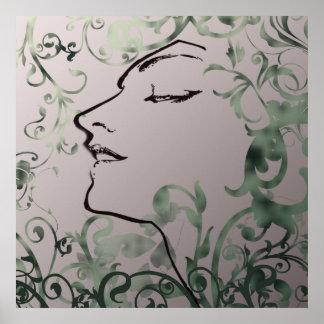 Serenity Art Deco Print