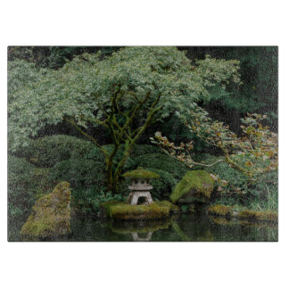 Serenity at a Japanese Garden Cutting Board