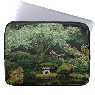 Serenity at a Japanese Garden Laptop Sleeve