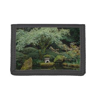 Serenity at a Japanese Garden Tri-fold Wallet