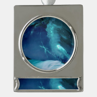 Serenity Bay Silver Plated Banner Ornament