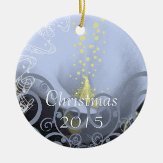 Serenity Blue Calla Lily Christmas Ornament