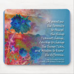 Serenity Blue Flowers Mouse Mats