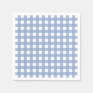 Serenity Blue Gingham Disposable Serviettes