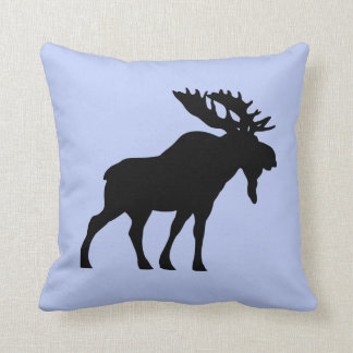 Serenity Blue  Throw pillow moose