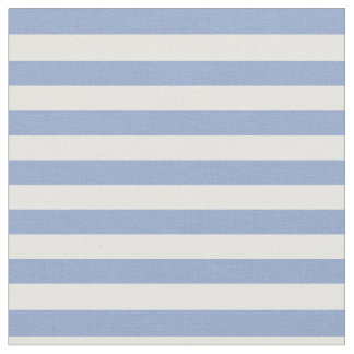 Serenity Blue & White Striped Fabric