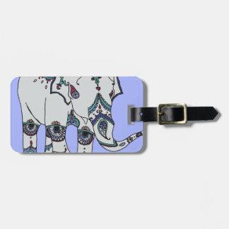 Serenity Boho Elephant Bag Tag