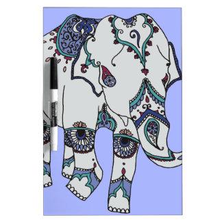 Serenity Boho Elephant Dry Erase Board