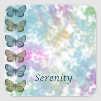 Serenity Butterflies Square Sticker