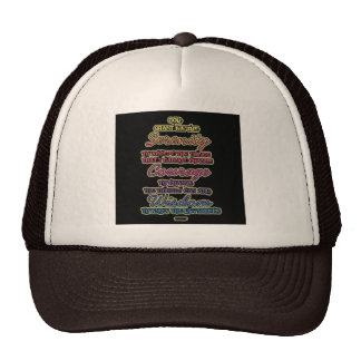 Serenity Courage Wisdom Colorful Text Cap