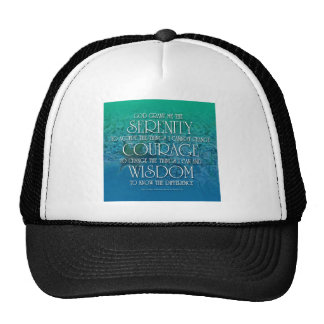 Serenity Courage Wisdom Hats